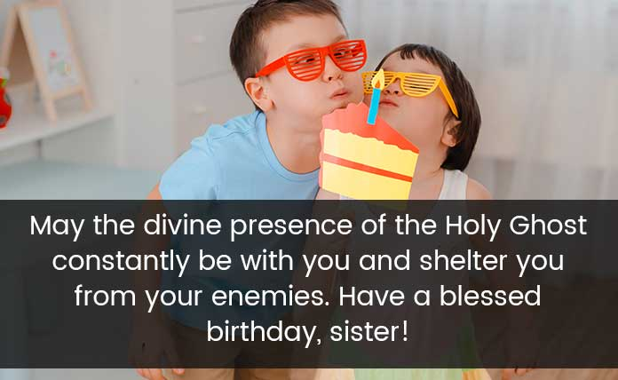 Happy birthday blessings for sister
