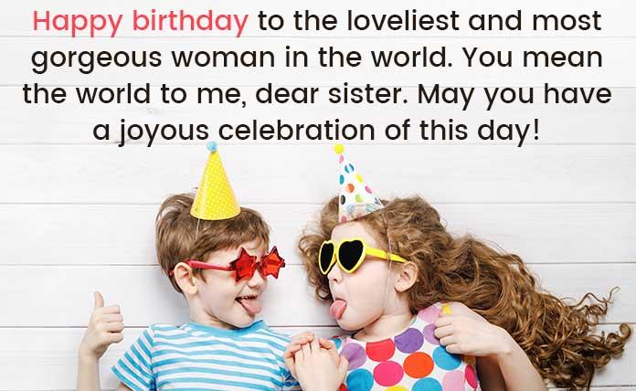 Wish you happy birthday sister image