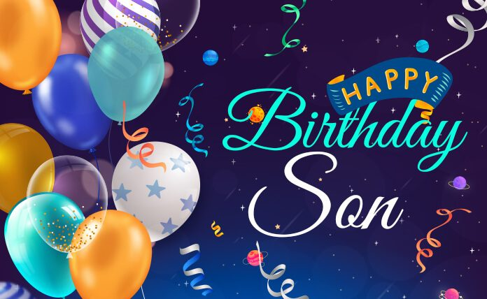 Terrific Happy Birthday Wishes For Son Quotes Images And Status Funny Birthday Cards Online Alyptdamsfinfo