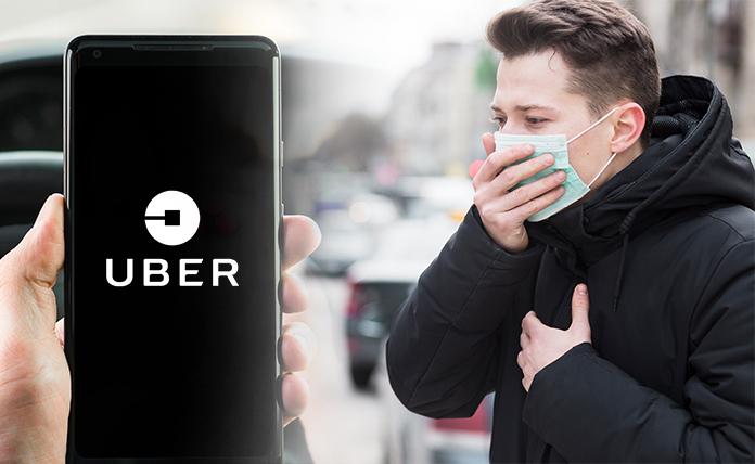 Uber app and coronavirus