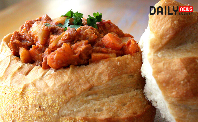 Bunny chow (Bhanee-Ch-ouw) Classic South African Recipe